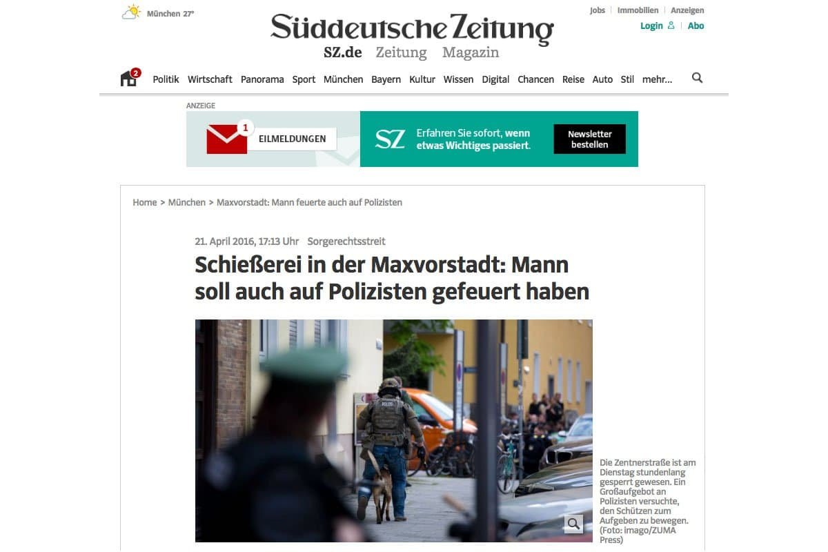 21.04.16 Süddeutsche Zeitung