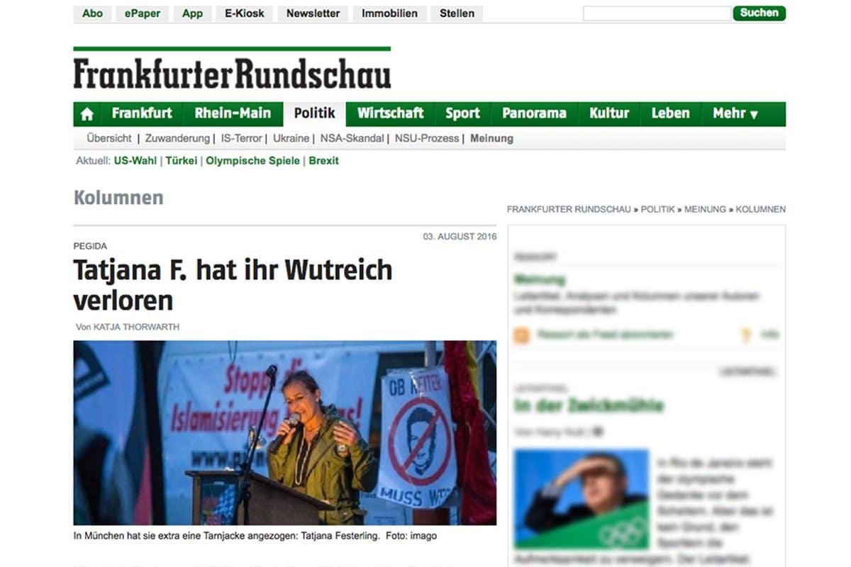 03.08.16 Frankfurter Rundschau