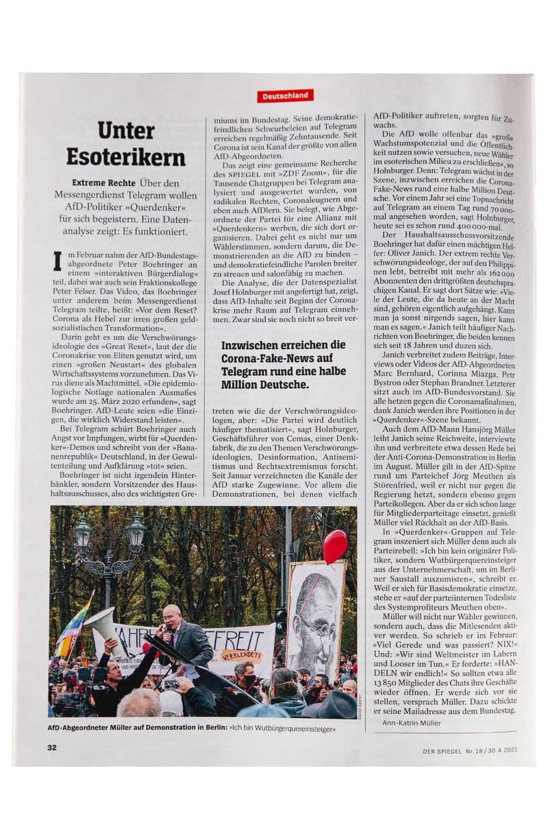 30.04.21 Der Spiegel